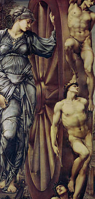 The Wheel Of Fortune Poster by Sir Edward Burne Jones