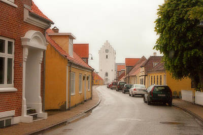 The White Church Saeby Denmark Poster by John Garbarino