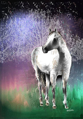 The White Horse Poster by Arline Wagner
