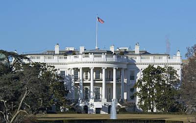 The White House - 1600 Pennsylvania Avenue Washington Dc Poster by Brendan Reals