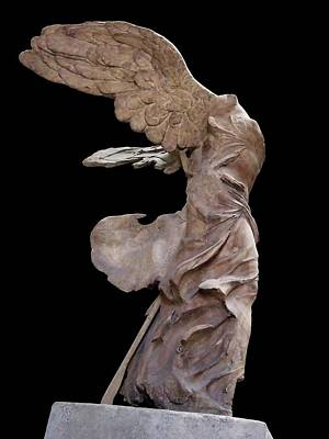 The Winged Victory Of Samothrace Number  Poster by David Lee Guss