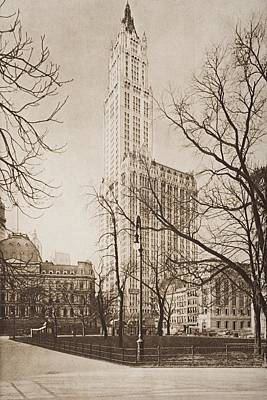 The Woolworth Building, New York. From Poster by Vintage Design Pics