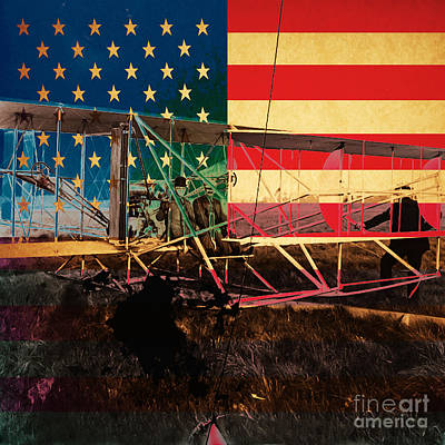 The Wright Bothers An American Original Poster by Wingsdomain Art and Photography