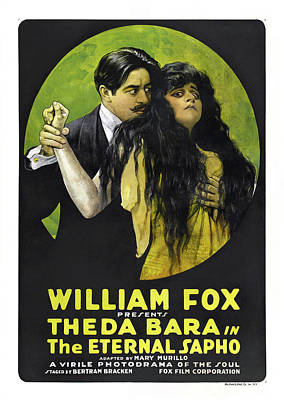 Theda Bara In The Eternal Sapho 1916 Poster by Mountain Dreams