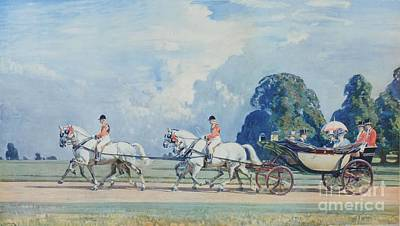 Their Majesties Returning From Ascot Poster by MotionAge Designs
