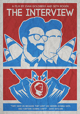 Theminimalist Movie Poster- The Interview Poster by Celestial Images