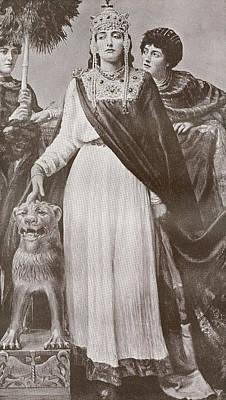Theodora I, C. 500 - 548. Empress Of Poster by Vintage Design Pics