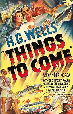 Things To Come Aka H.g. Wells Things To Poster by Everett