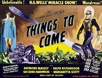 Things To Come, From Left On 1947 Poster by Everett