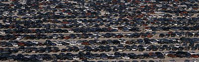 This Is A Commuter Parking Lot Poster by Panoramic Images
