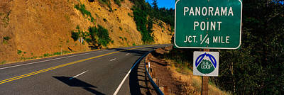 This Is A Road Sign That Says Panorama Poster by Panoramic Images