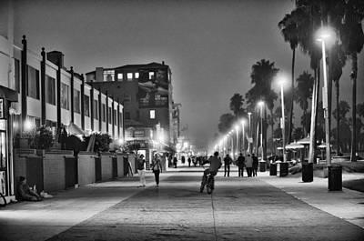 This Is California No. 11 - Venice Beach Biker Poster by Paul W Sharpe Aka Wizard of Wonders