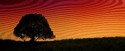 This Is The Philippines No.11 - Mango Tree Sunset Poster by Paul W Sharpe Aka Wizard of Wonders