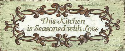 This Kitchen Poster by Debbie DeWitt