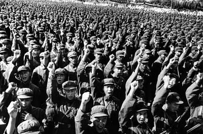 Thousands Of Red Army Soldiers Raise Poster by Everett