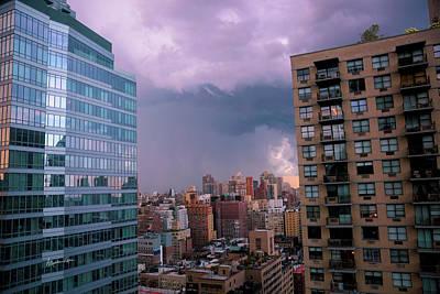 Threatening Storm - Manhattan - 2016 Poster by Madeline Ellis
