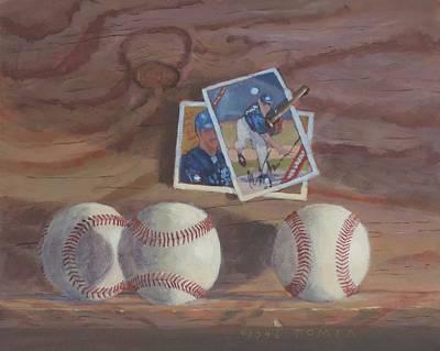 Three Balls Poster by Bill Tomsa