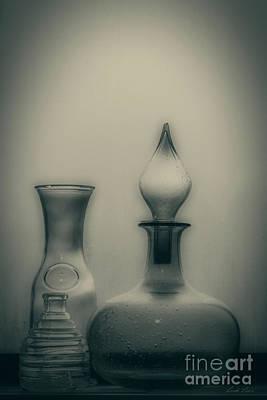 Three Bottles Poster by Linda Lees