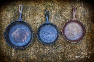 Three Frying Pans Poster by Randy Steele