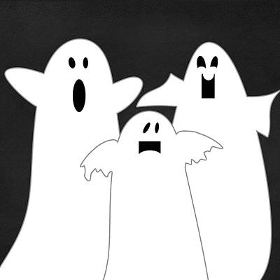 Three Ghosts Poster by Linda Woods