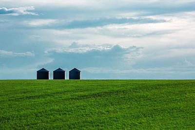 Three Grain Bins Poster by Todd Klassy