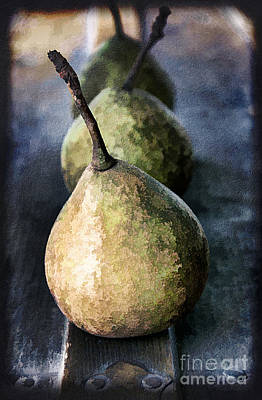 Three Pears Poster by Darren Fisher