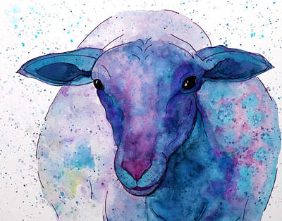 Three Sheep, 2 Of 3 Poster by Moon Stumpp