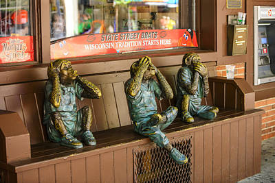 Three Wise Monkeys Poster by Chris Smith