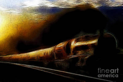 Through The Dark Of Night Rises The New Morning Glow . Such Is The Life Of The Old Engine Poster by Wingsdomain Art and Photography
