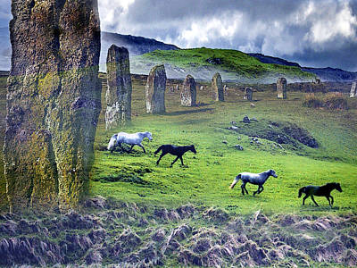 Through The Standing Stones Poster by Vicki Lea Eggen