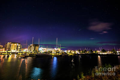 Thunder Bay Aurora Cityscape Poster by James Brown