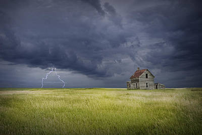 Thunderstorm On The Prairie Poster by Randall Nyhof