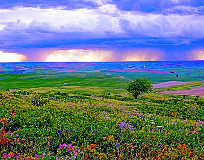 Thunderstorm Over The Palouse Poster by Margaret Hood