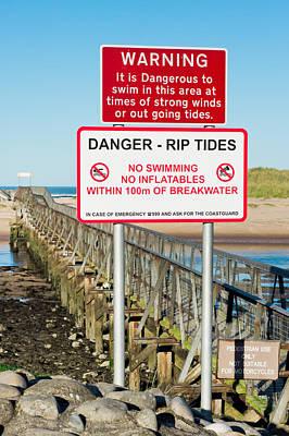 Tide Warning Poster by Tom Gowanlock