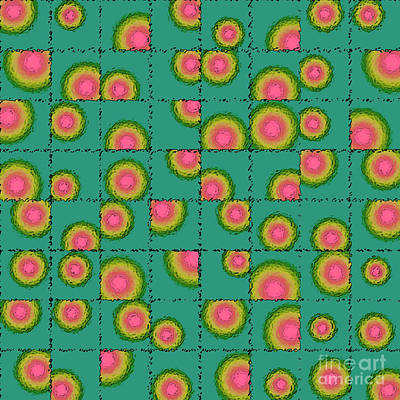 Tiled Circular Gradients Poster by Gaspar Avila