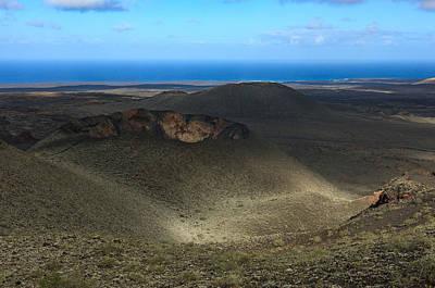 Timanfaya Crater View Poster by Johan Elzenga