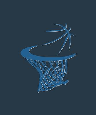 Timberwolves Basketball Hoop Poster by Joe Hamilton