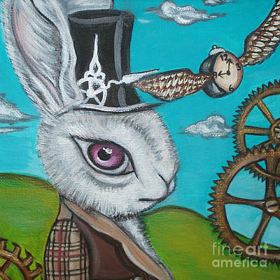 Time Flies For The White Rabbit Poster by Jaz Higgins