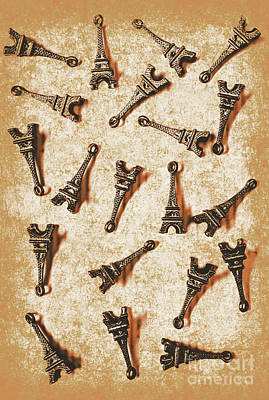 Time Worn Trinkets From Vintage Paris Poster by Jorgo Photography - Wall Art Gallery