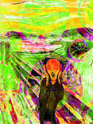 Timeless Art The Scream 20160305 Poster by Wingsdomain Art and Photography