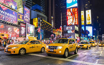 Times Square Poster by Kobby Dagan