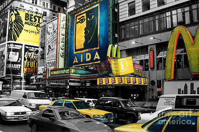 Times Square Nyc Poster by Guy Harnett