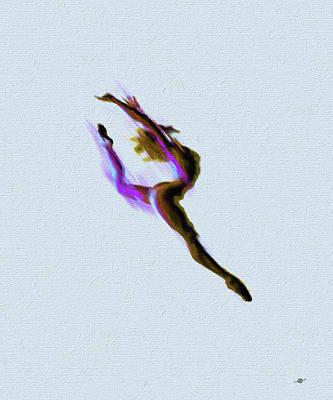 Tiny Dancer Acrylic Painting Poster by Tony Rubino