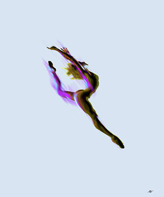 Tiny Dancer Digital Manipulated Photo With Paint Accents Poster by Tony Rubino