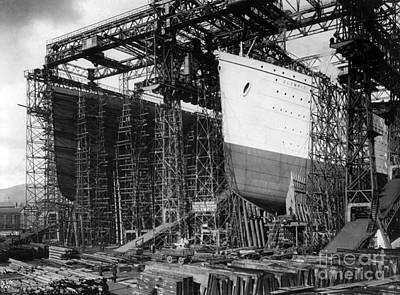Titanic: Construction, C1910 Poster by Granger