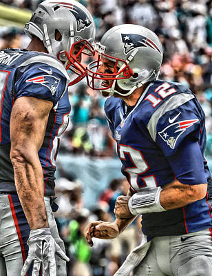 Tom Brady Art 4 Poster by Joe Hamilton