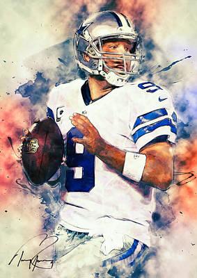 Tony Romo Poster by Taylan Soyturk