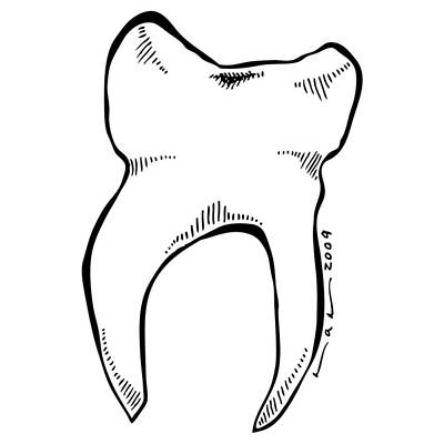 Tooth Poster by Karl Addison