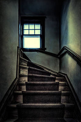 Top Of The Stairs Poster by Scott Norris