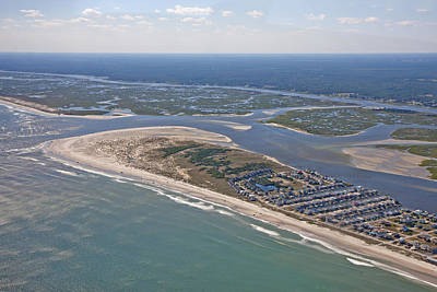 Topsail Island Aerial Poster by Betsy C Knapp